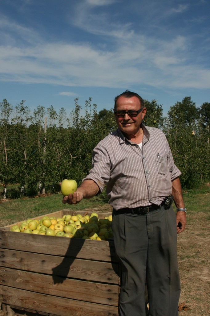 Apple Orchard owner Narcis in the Catalonia area of Spain