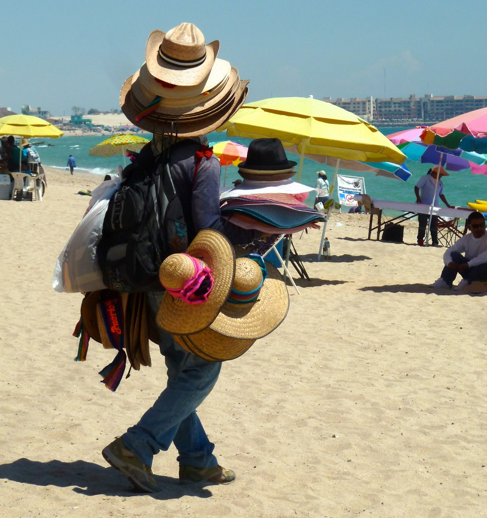Hat man, Arizona's Beach: Rocky Point, Mexico