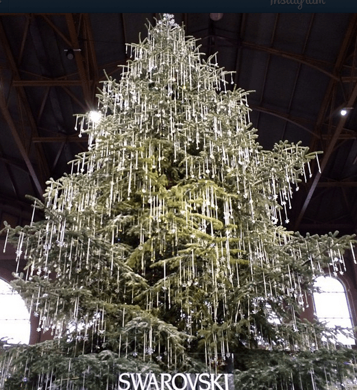 Swarovski's Christmas Tree in Zurich, Switzerland