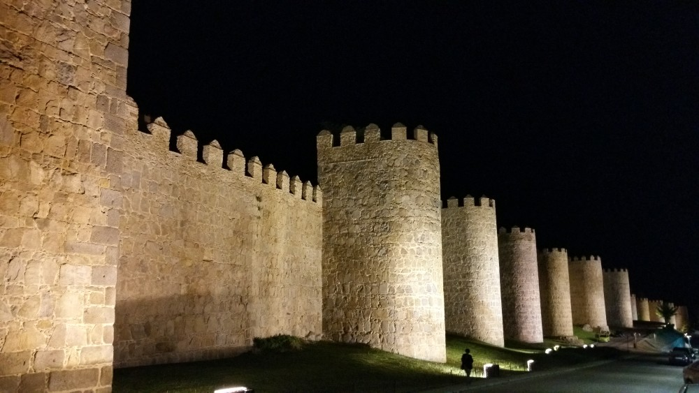 The walls to the city at night