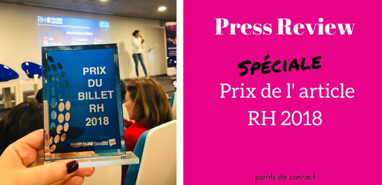 Press Review - Severine Loureiro - Speciale Prix article RH 2018