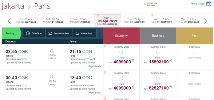 Tiket Qatar Airways Pp Jakarta Paris Rp8 Jutaan Points Geek