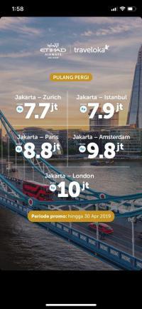 Beli Tiket Di Traveloka Ke Zurich Naik Etihad Pp Rp7 Jutaan