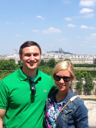 View from the roof with Sacre Coeur in the background