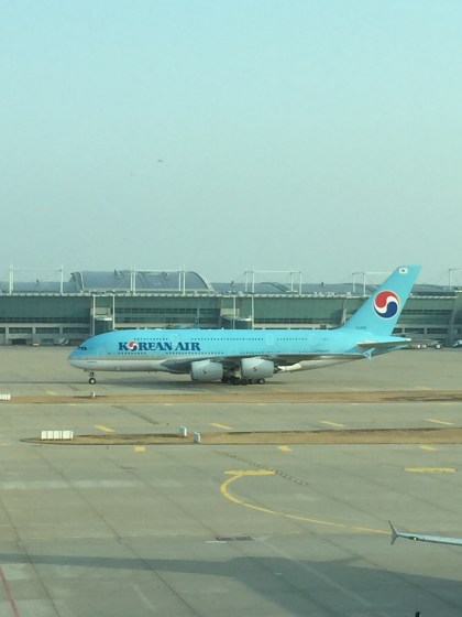 Some plane-spotting before the flight! KE A380...What could have been...