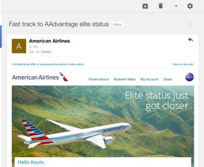 american airlines fast track gold status