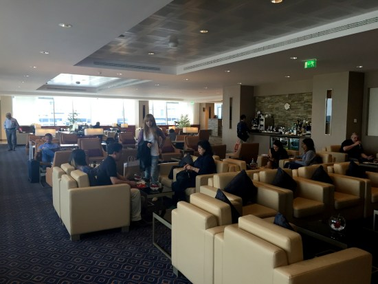 emirates first business class lounge milan mxp surprise food drinks boarding A380