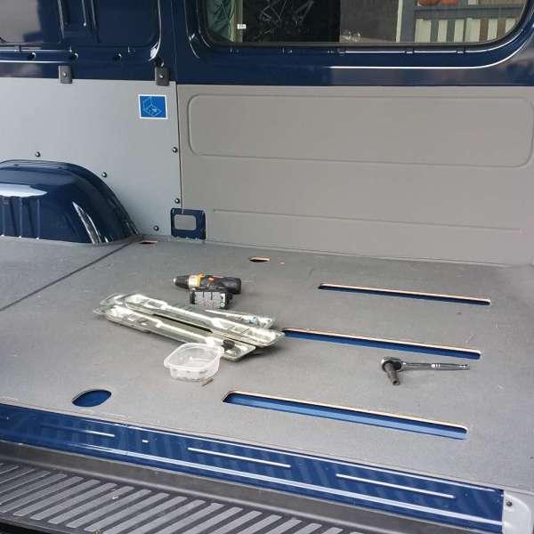 Sprinter Adventure Van Build - Moving the back seat