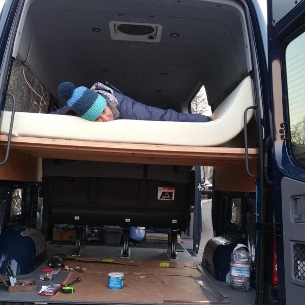 Sprinter Adventure Van Build - Bed Platform