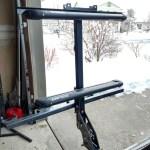 vertical ski rack