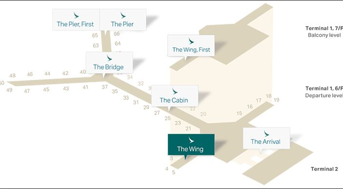 Image result for cathay pacific lounge map hkg