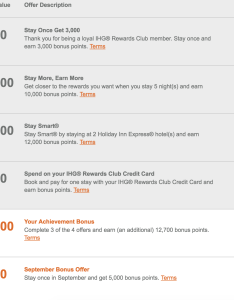 Ihg accelerate fall offers are live what your points with  crew also rh pointswithacrew