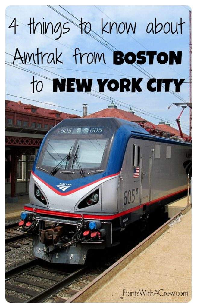 Amtrak Boston to NYC Review  Points with a Crew