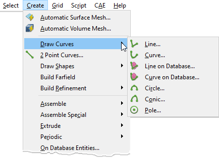 Pointwise Create, Draw Curves Command