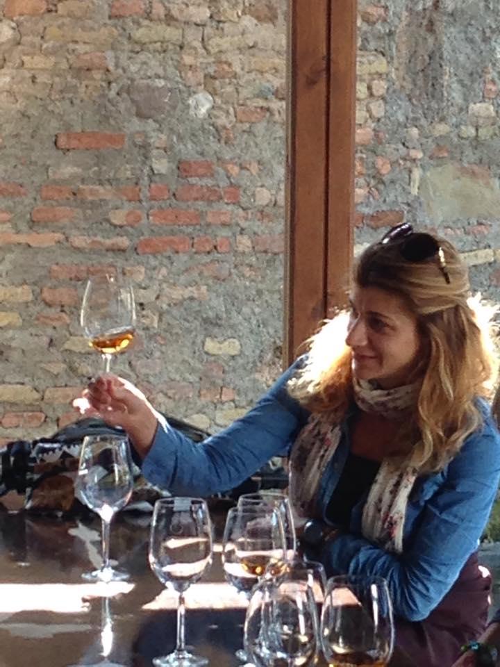 The beautiful amber of Georgian wine.