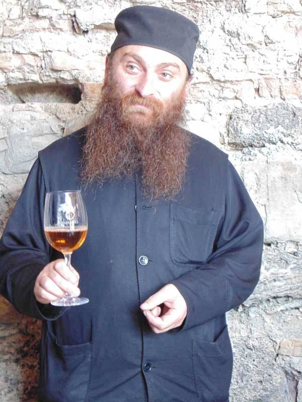 Father Gerasime is the head winemaker at Alavedri Monastery