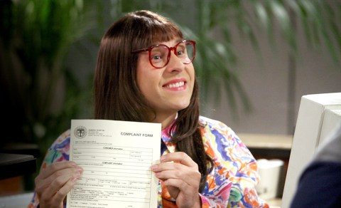 Carol Beer with complaint form on Little Britain