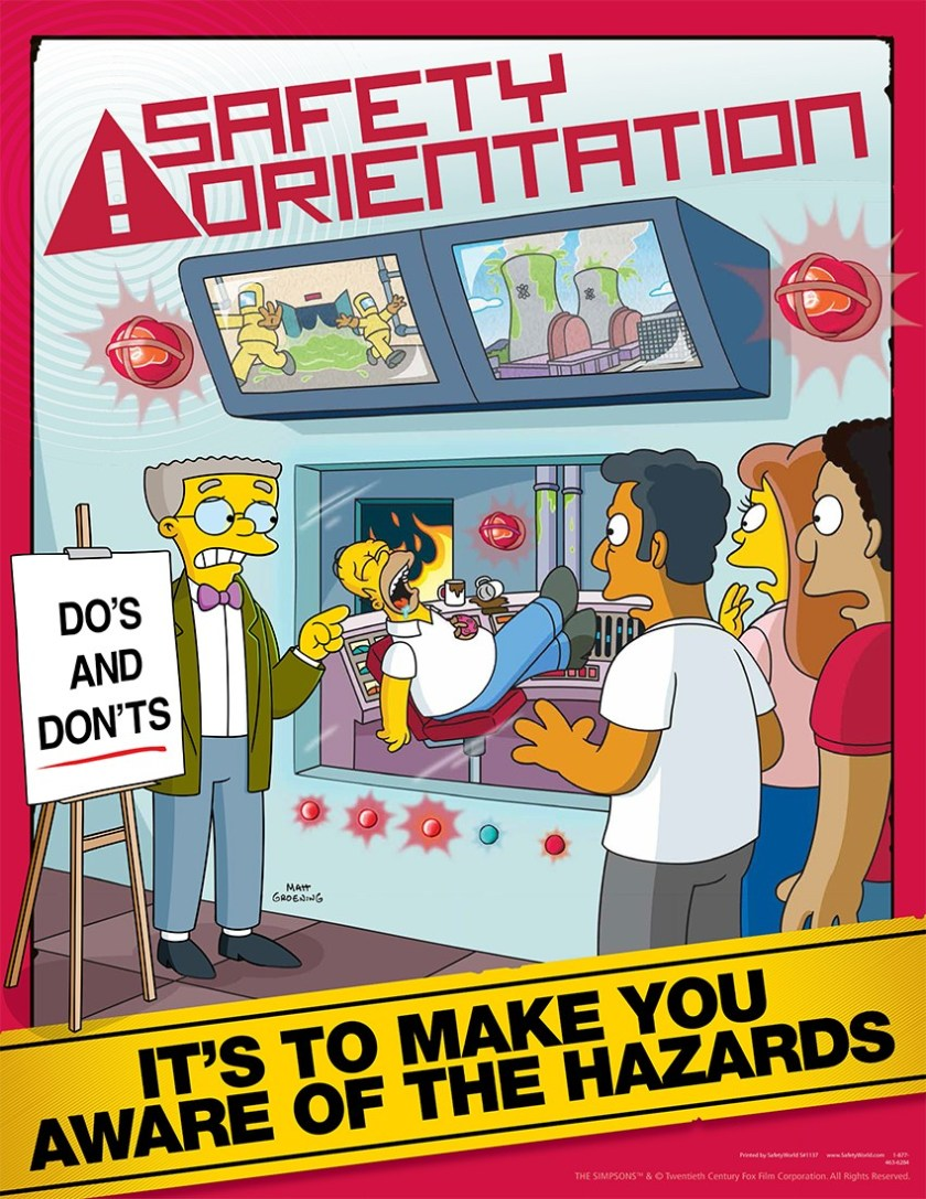 Simpsons-Safety-Training-Poster-S1137