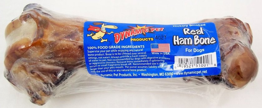 real ham bone in shrink wrap