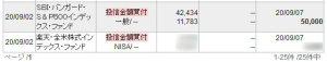 SBI・バンガード・S&P500インデックス・ファンドを5万円買付