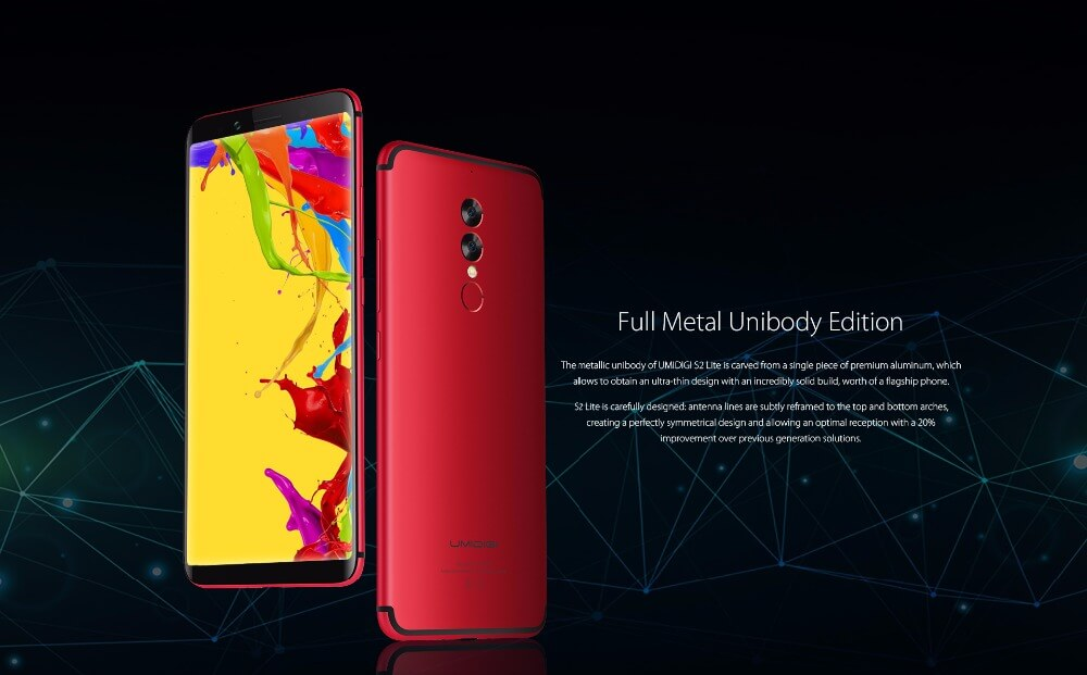 Фото UMIDIGI S2 Lite 6.0'' 18:9 Display Smartphones 5100mAh 4GB+32GB Octa Core 16MP+5MP Android 7.0 4G LTE OTG Dual SIM Mobile Phones