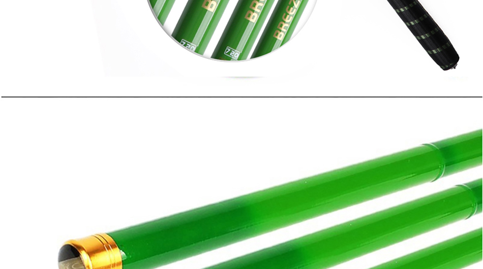 Фото Маховое удилище Goture Green Telescopic Fishing Rod Carbon Fiber Fishing Pole Ultra-light Carp Rod 3.6M 4.5M 5.4M 6.3M 7.2M+3 spare top tips
