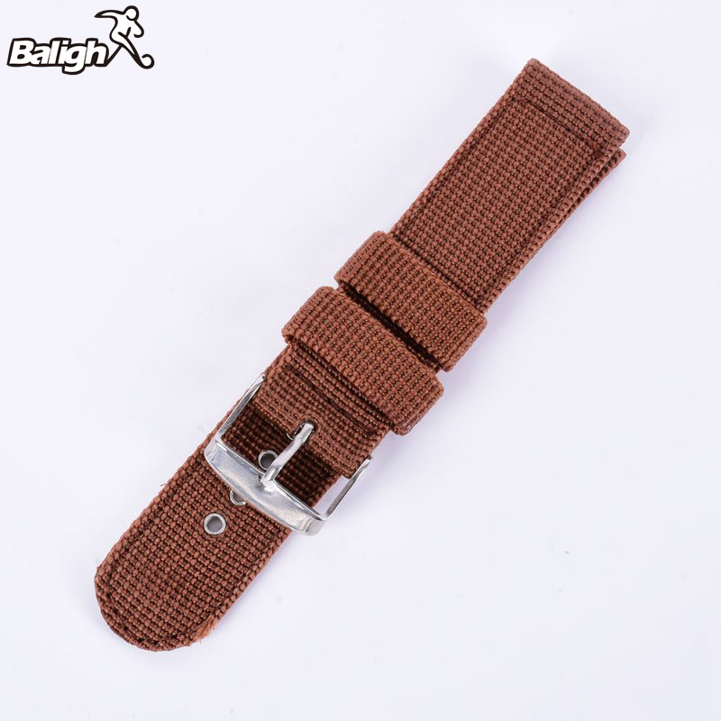 Фото Ремешок для часов Balight Military Army Nylon Fabric Canvas Wrist Watch Band Strap 18/20/22/24mm 4Color With Stainless Steel Buckle