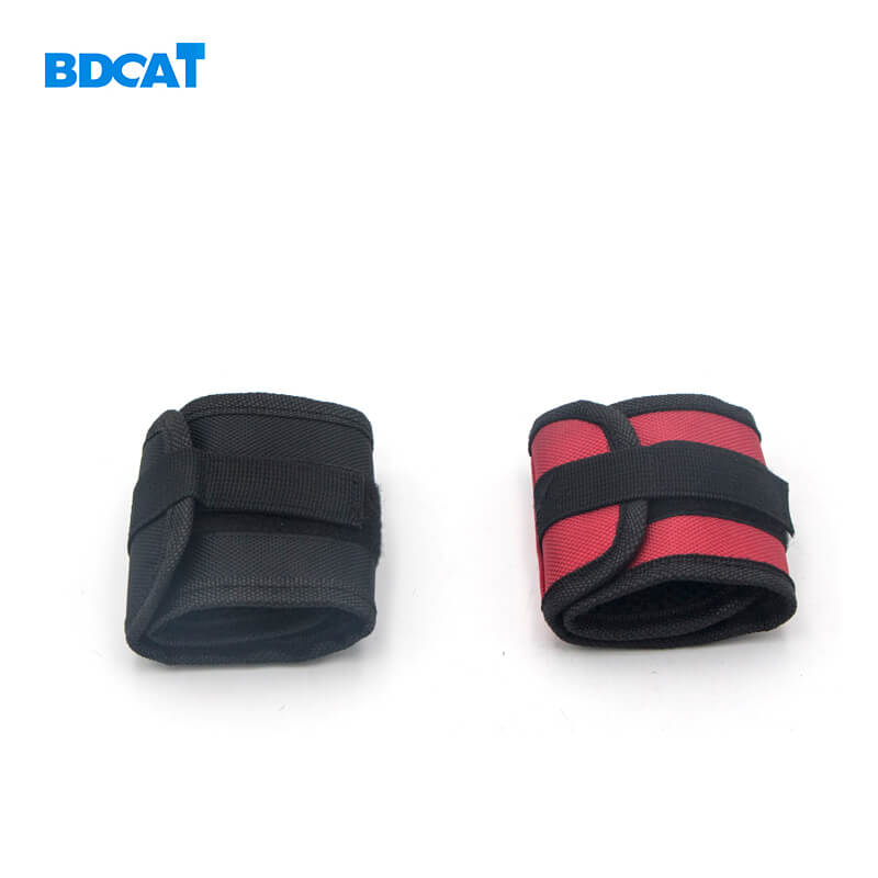 Фото Тканевый магнитный браслет на руку BDCAT Polyester Magnetic Wristband Portable Tool Bag Electrician Wrist Tool Belt Screws Nails Drill Bits Holder Repair Tools