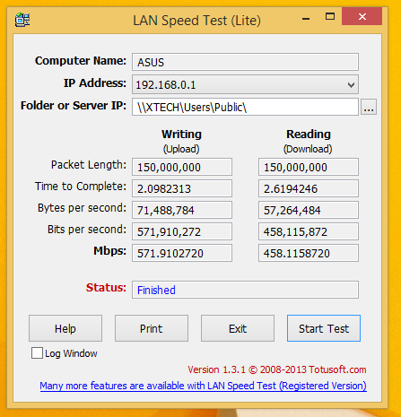 Lan Speed Test Intel