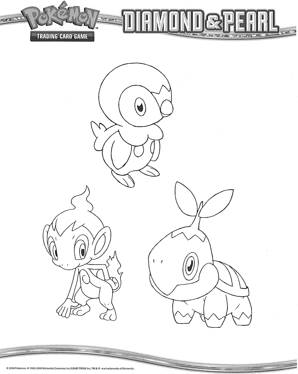 Starter Pokemon Coloring Pages Sketch Coloring Page
