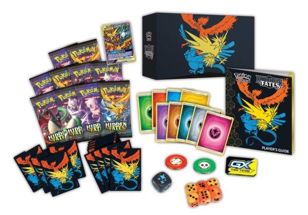 Hidden Fates Elite trainer box inhoud