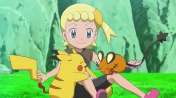 Instant mignon : Clem caresse Pikachu et Dedenne comme dans la Poké Récré