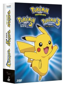 Pack DVD Films Pokemon 1 a 3