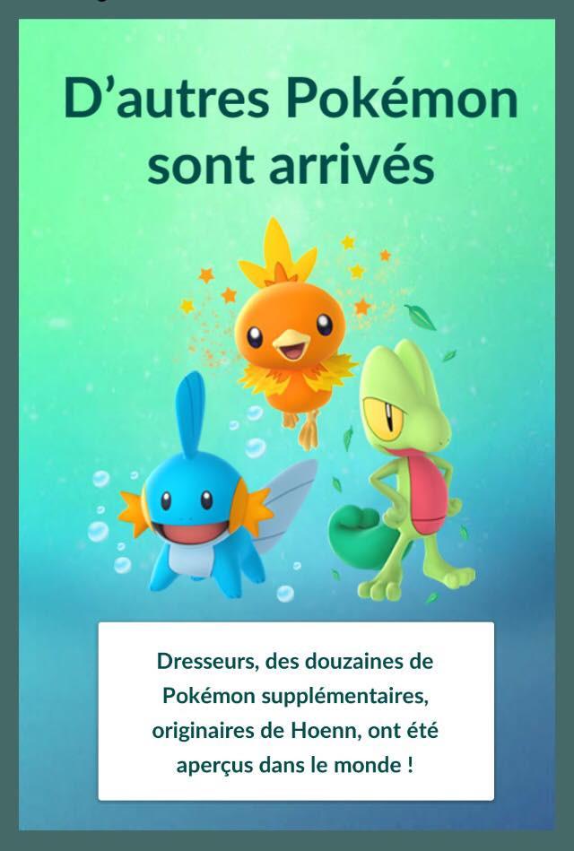 Pokémon GO - Troisieme génération