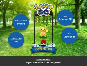 Pokémon GO Community Day - Pikachu Surfeur