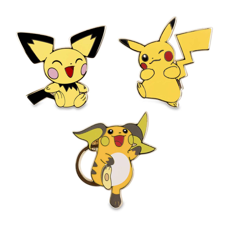 Hawaii Cute Pokemon Wallpaper Pichu Pikachu Amp Raichu Pok 233 Mon Pins 3 Pack Pok 233 Mon
