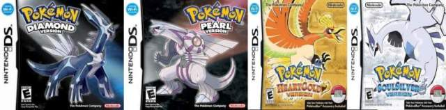 Generation 4 (Diamond, Pearl, Platinum, Heart Gold and Soul Silver)