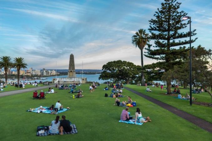 Kings Park is popular with tourists and locals, according to the latest figures