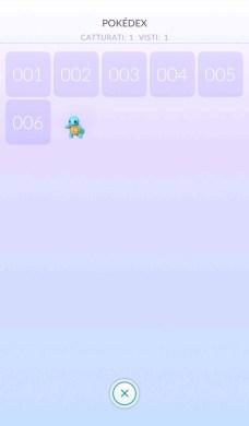 Schermata del Pokédex