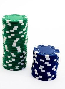 jetons de poker dice