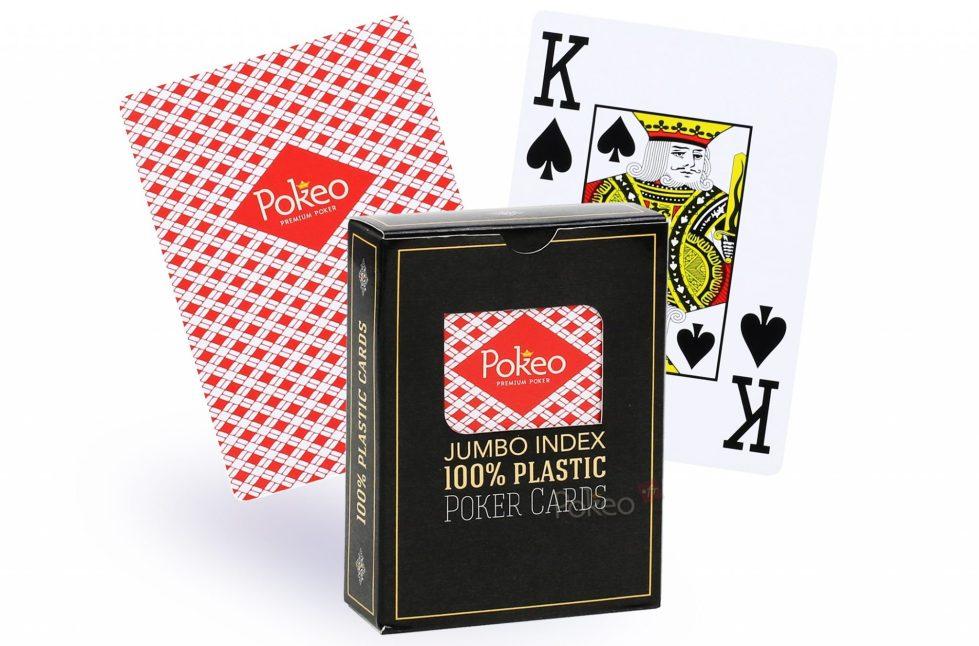 Jeu de cartes 100% plastique Pokeo