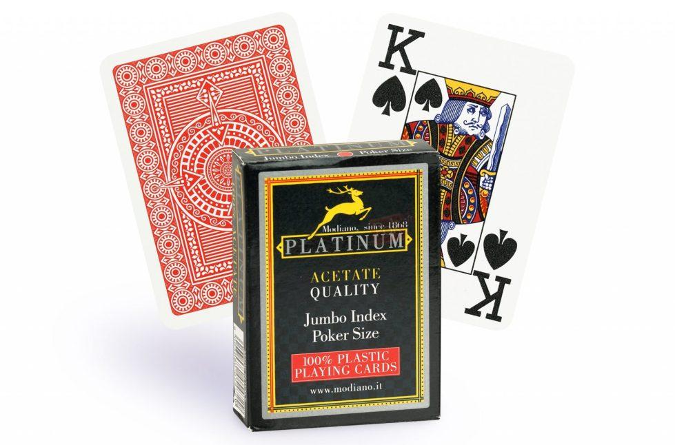 Cartes Modiano Platinum 100% Plastique