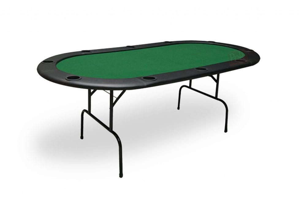 Table de poker 10 joueurs vert