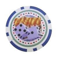 Casino Dice blå
