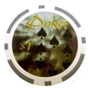Poker Ace Grå 1 (25-pack)