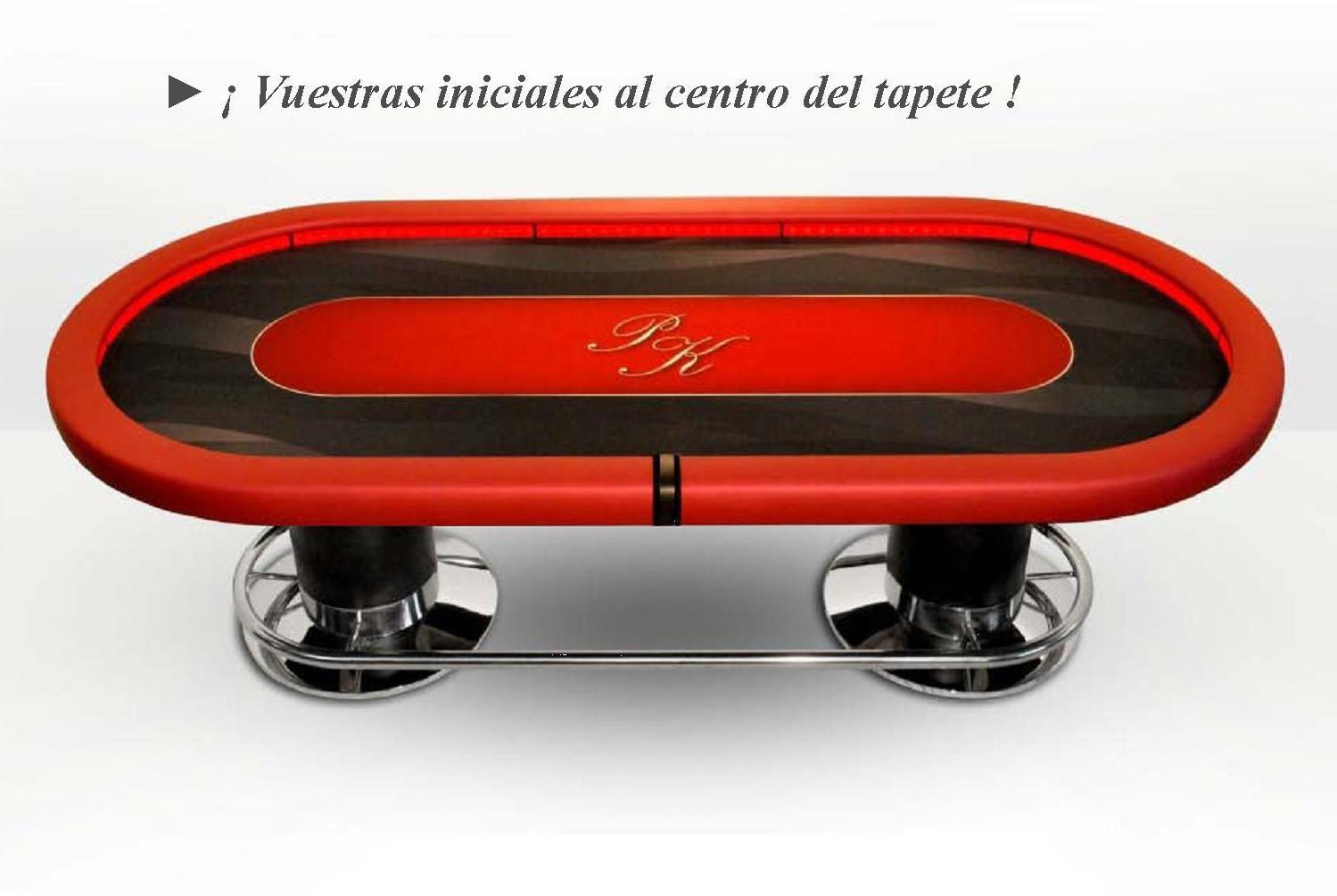 table de poker ovale caiman casino ex rouge personnalisable