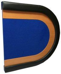 Oval Poker Table Top blue - PokerProductos.com