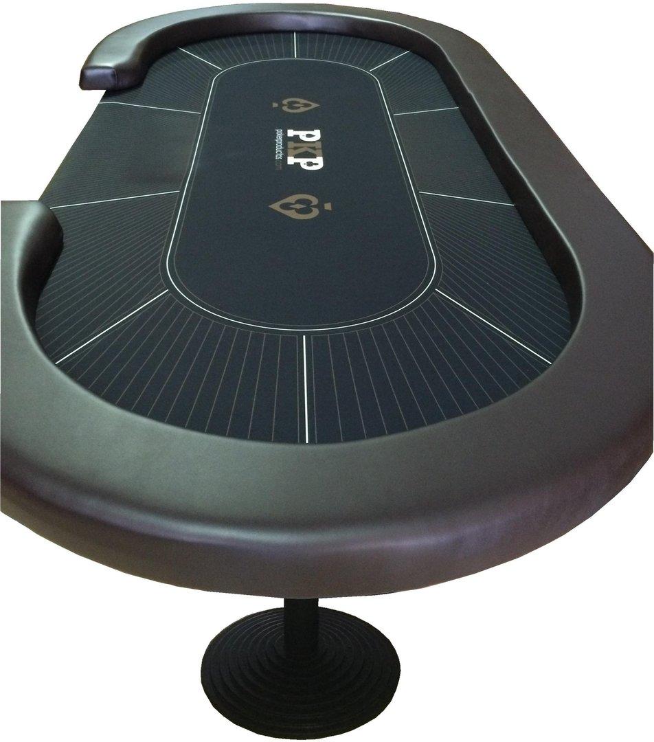 table de poker ovale personnalise
