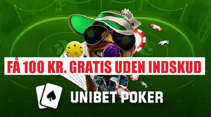 Største no deposit poker bonus på Unibets Pokerroom