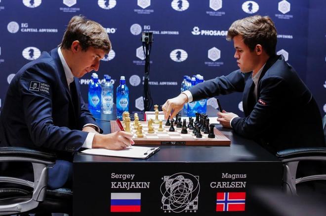Resultado de imagen de 9a partida Karjakin-Carlsen